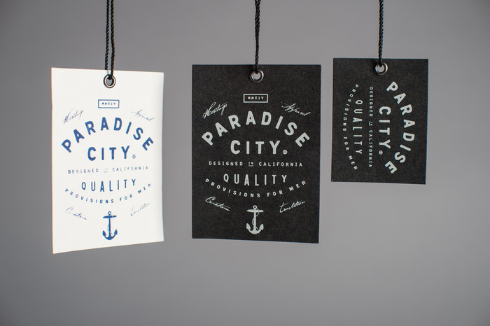 Paradise City hangtags and labels 4