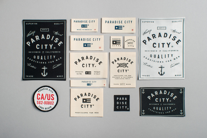 Paradise City hangtags and labels 5