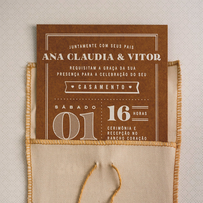Ana Claudia & Vitor wedding invitation 2