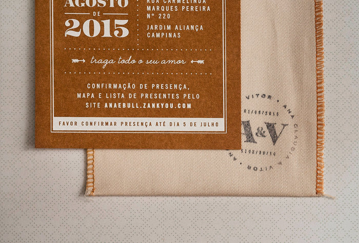 Ana Claudia & Vitor wedding invitation 4