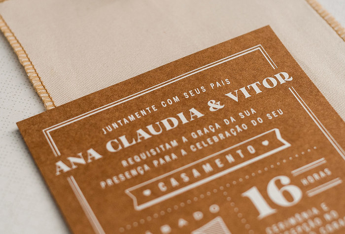Ana Claudia & Vitor wedding invitation 3