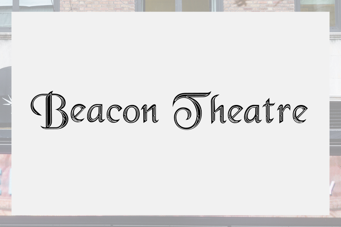 Beacon Theatre sign and logo 2