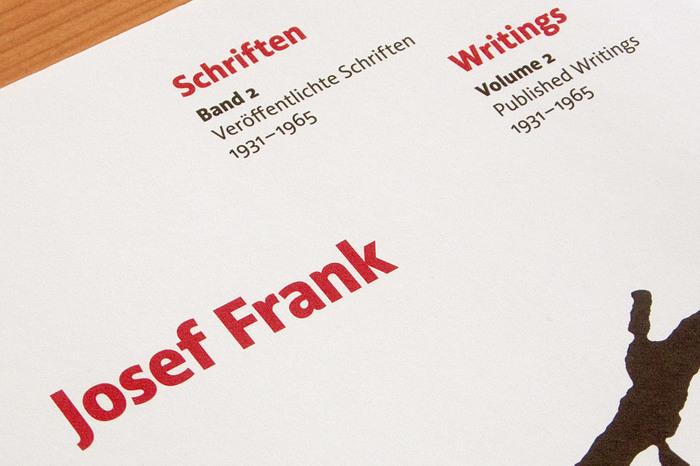 Josef Frank: Writings/Schriften 2