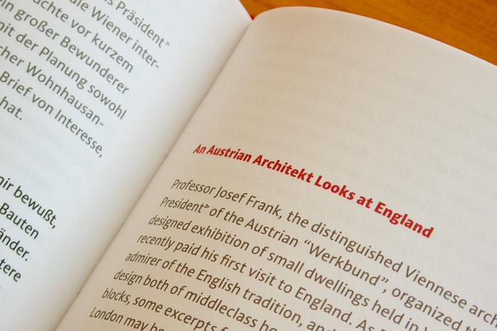 Josef Frank: Writings/Schriften 5