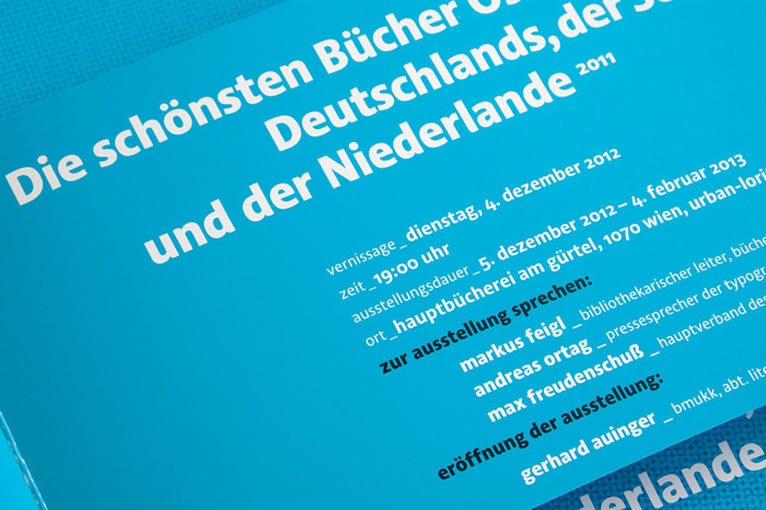 The flyer promoting the exhibition was designed by Austrian designer Erich Monitzer.