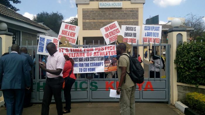 Kenyan runners occupy athletics HQ 1