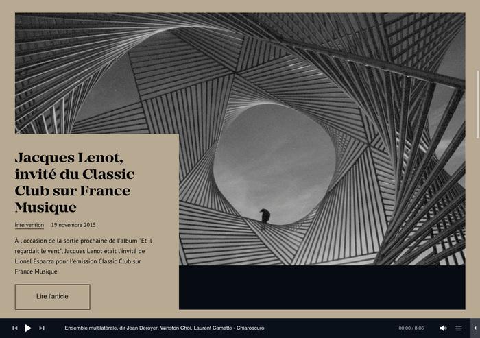 Jacques Lenot website 2