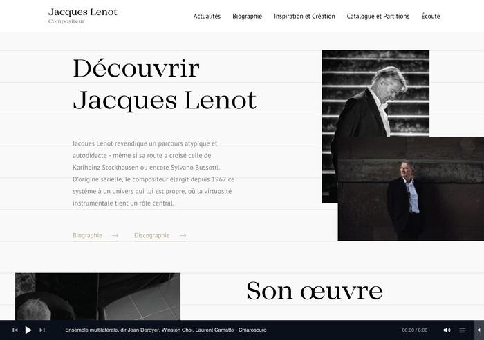 Jacques Lenot website 3
