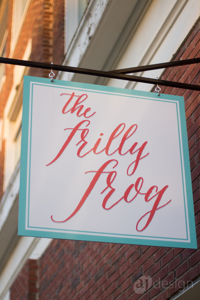 The Frilly Frog identity 1