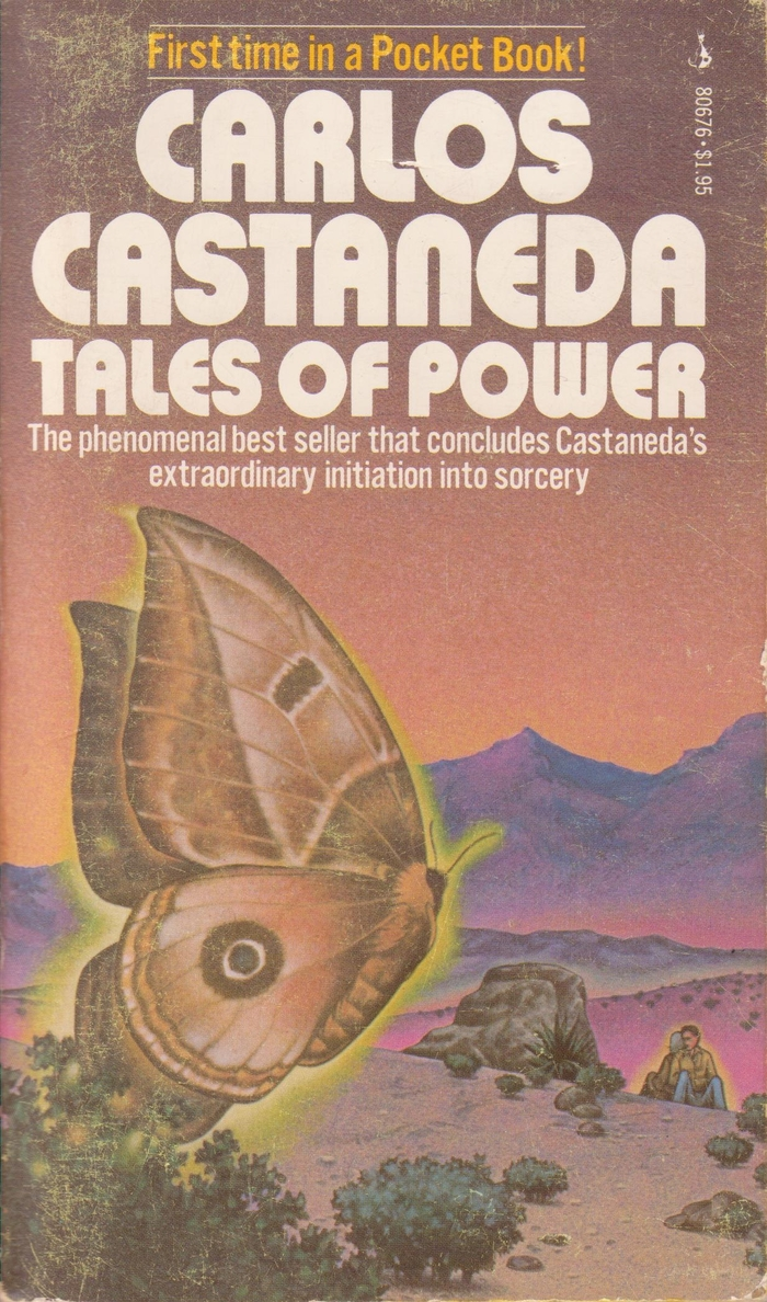 "This paperback edition of Tales of Power (Pocket Books, 1976?) exhibits another variation of the 1970s ""Bauhaus"" style. It looks as if the designers wanted to use the same face as on the original jacket, but weren't able to find the right font (because it had been modified), so they emulated it and replaced Aki's pointed shapes for N and W with rounded ones that are similar to those found in Blippo Black or Expressa Heavy."