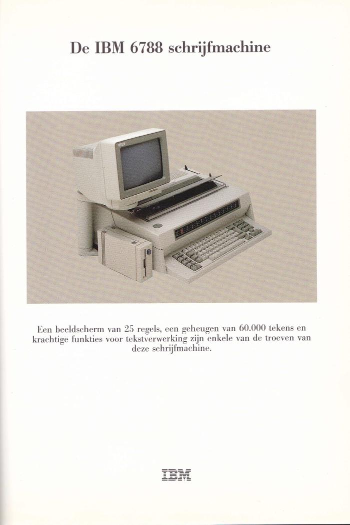 IBM Typewriter ads (Netherlands, 1980s) 2