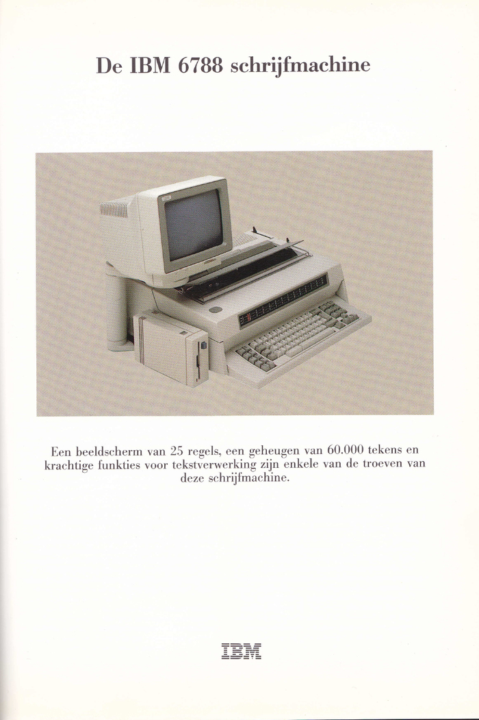 IBM Typewriter ads (Netherlands, 1980s) 2
