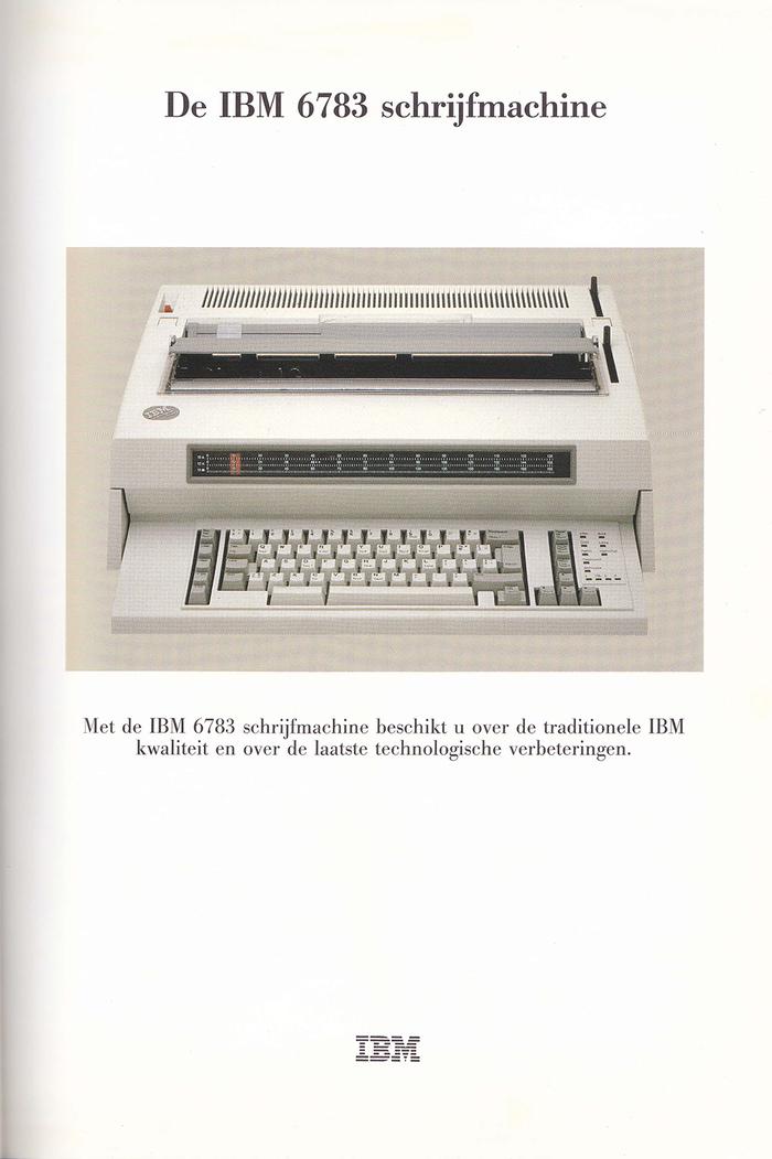 IBM Typewriter ads (Netherlands, 1980s) 3