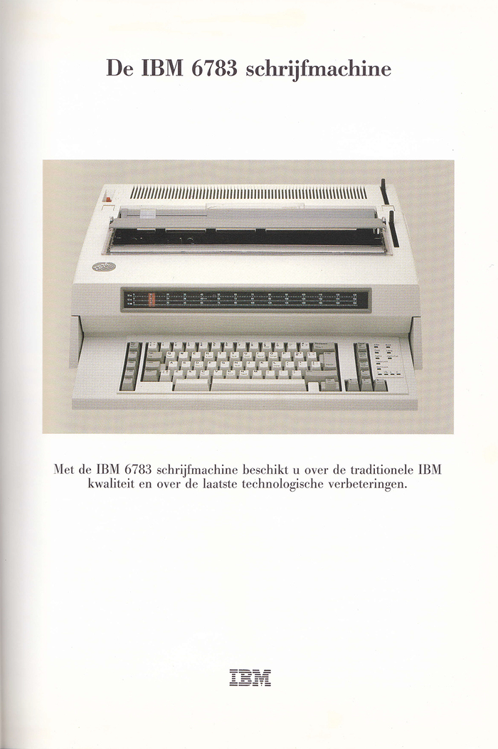 IBM Typewriter ads (Netherlands, 1980s) 3