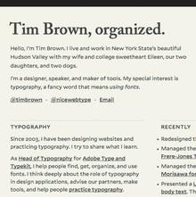 Tim Brown, organized.