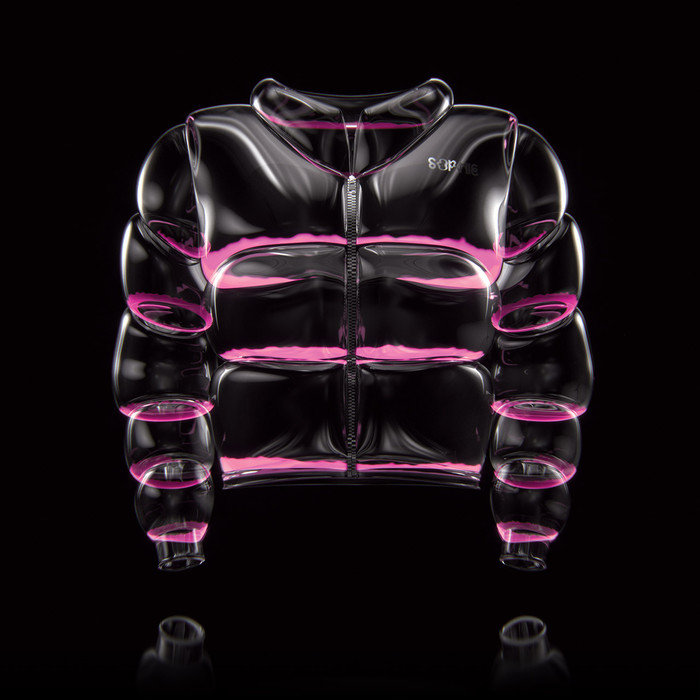 """Liqui-UV transparent plastic soapy puffa jacket. available in pink or green."""