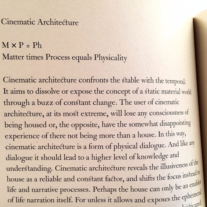 Manifesto For A Cinematic Architecture 2