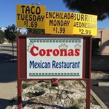 Coronas Mexican Restaurant, Arroyo Grande