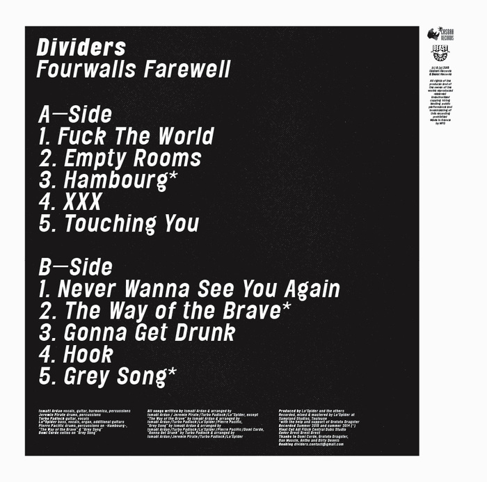 Fourwalls Farewell by Dividers 2