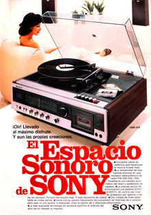 Ad for Sony MHK-419 stereo system