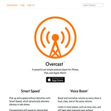 Overcast podcast app