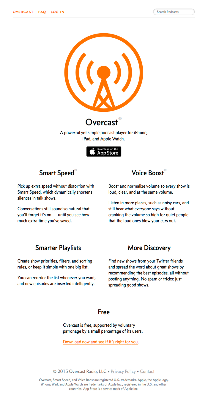Overcast podcast app 1