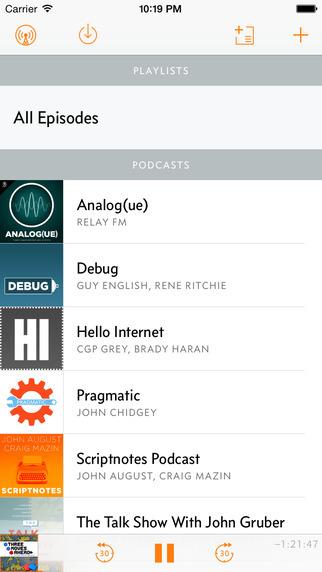 Overcast podcast app 3