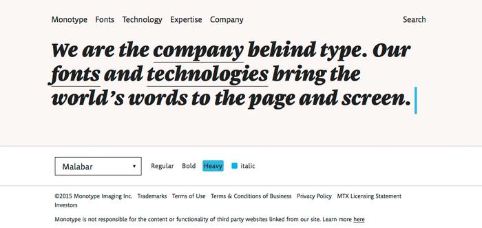 Monotype website 1
