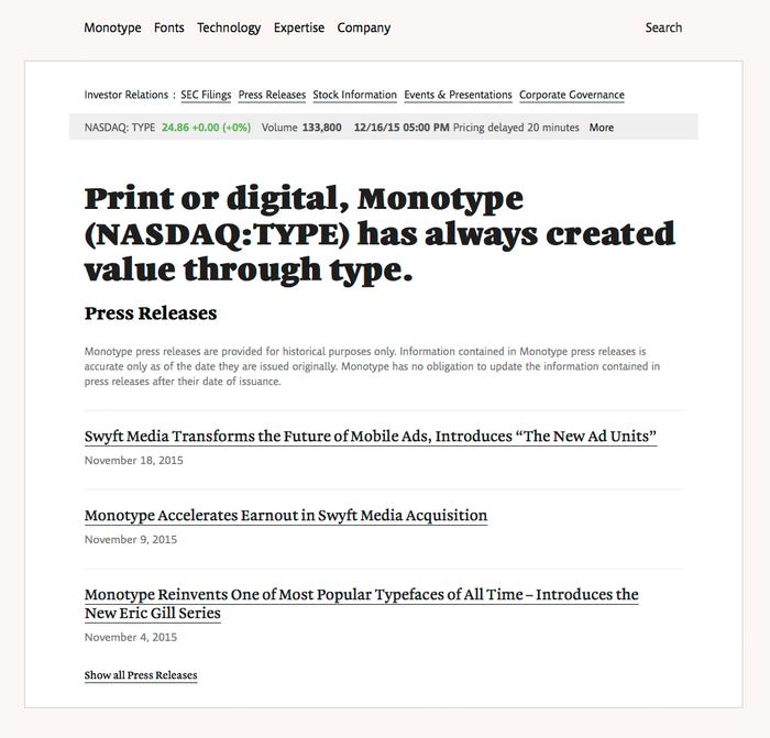 Monotype website 3