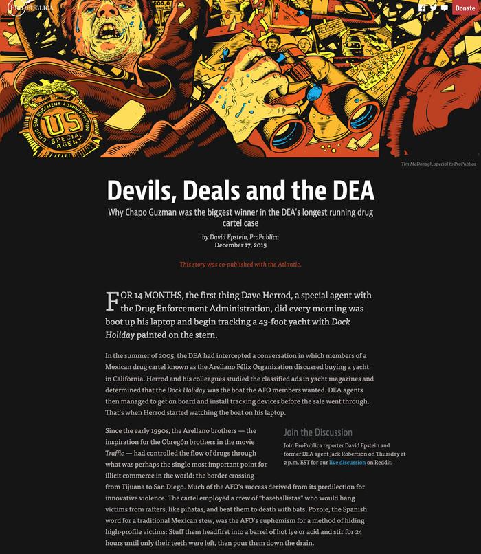 Devils, Deals and the DEA