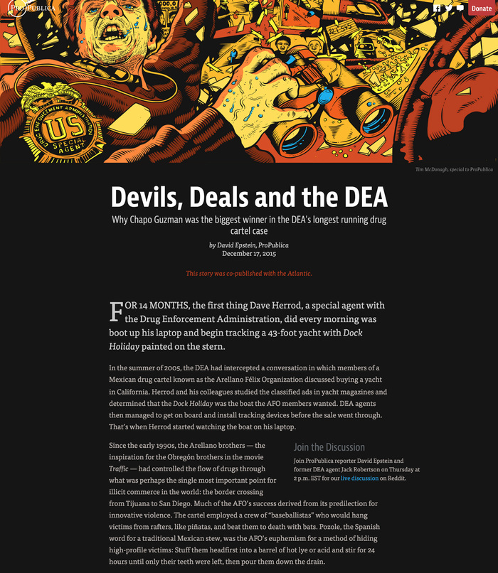 Devils, Deals and the DEA