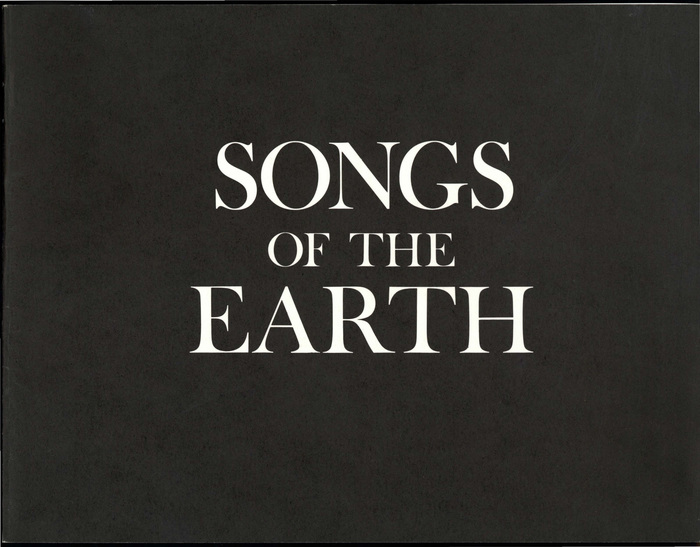 Songs of the earth / Roger Peters, 1975. Designer uncredited, likely Ross Ritchie.
