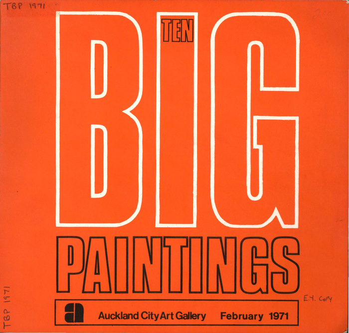 Ten big paintings, February 1971. Designer uncredited, likely Ross Ritchie.