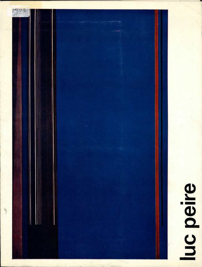 Luc Peire: Auckland Festival, May 1973. Designer uncredited, likely Ross Ritchie.
