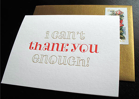 I Can't Thank You Enough ! card