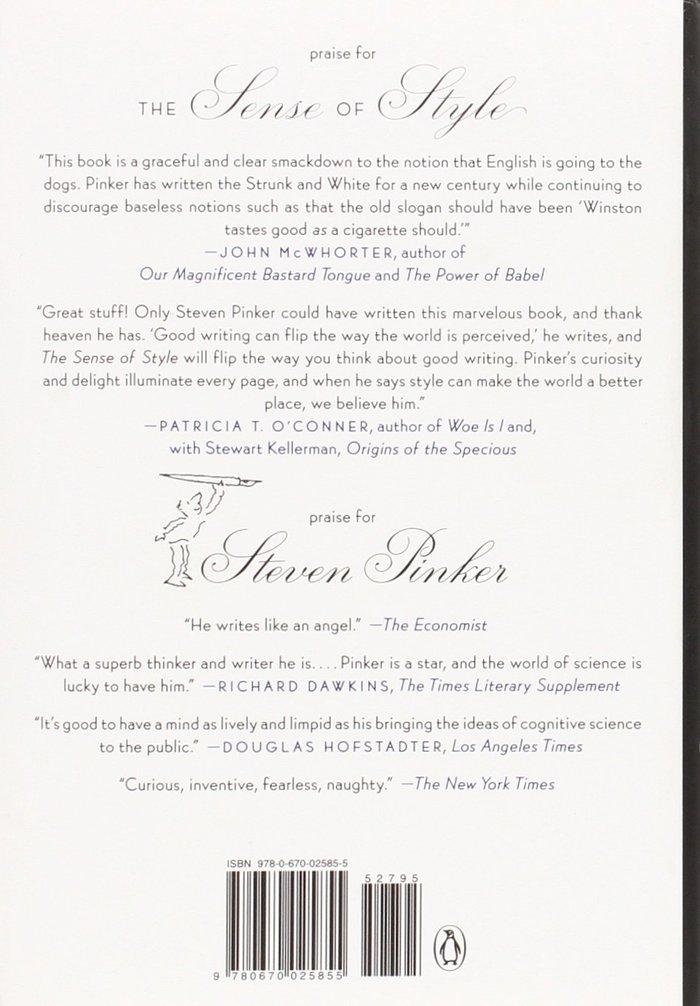 The Sense of Style by Steven Pinker 2