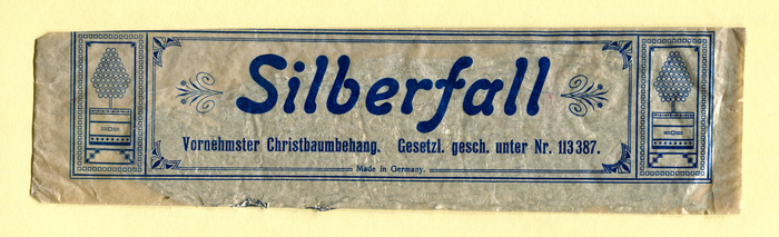 """Silberfall"" christmas tree tinsel 1"
