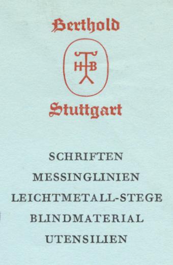 H. Berthold AG letterhead, 1961 3