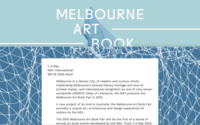Melbourne Art Book Fair 1