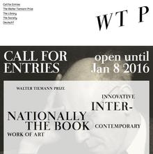 Walter Tiemann Prize website