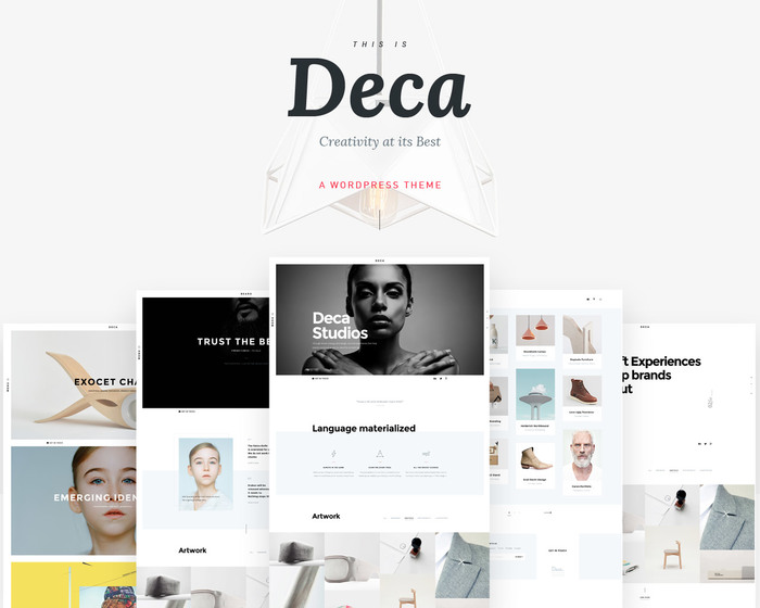 Introduction & Landing for Deca Theme Demonstration. Live at demo.uncommons.pro/themes/wp/deca/