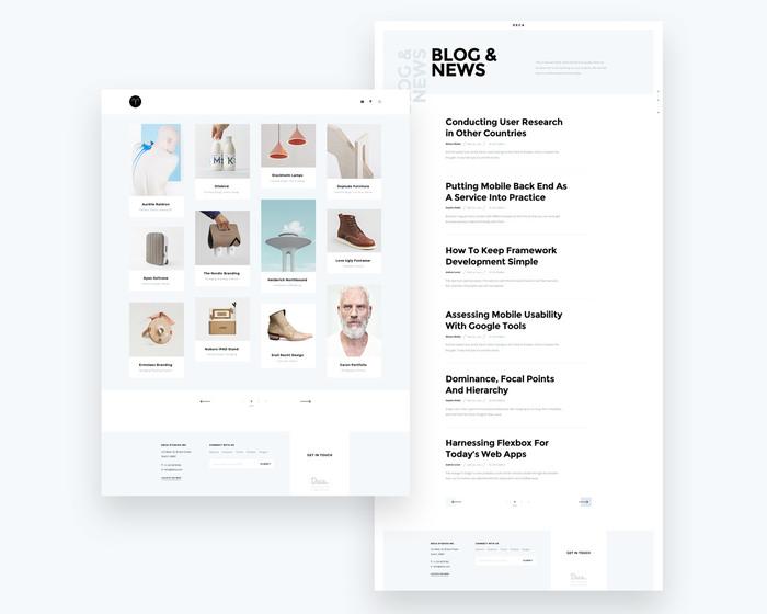 Card based Portfolio Homepage