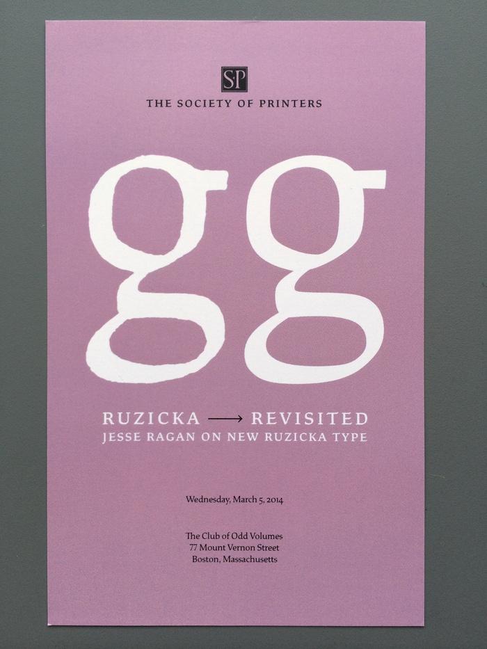 "Jesse Ragan – ""Ruzicka Revisited"" invitation 1"