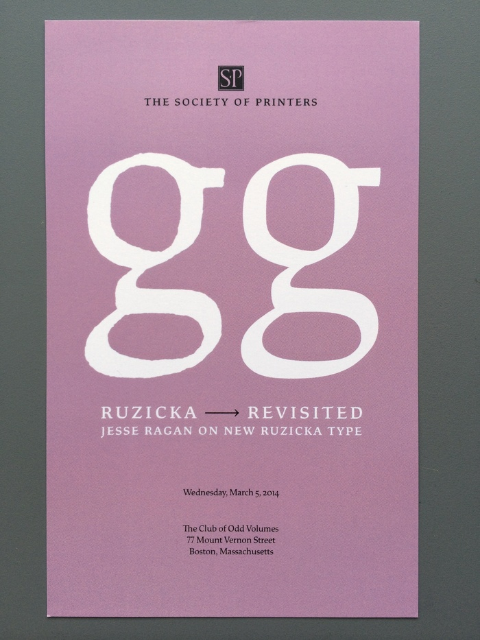 "Jesse Ragan – ""Ruzicka Revisited"" invitation 1"
