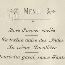 Victorian menus