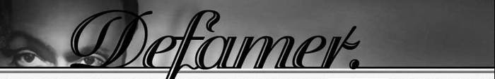 Defamer nameplate as it first appeared on the site in 2004.