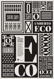 Poster for Umberto Eco's <cite>Sıfır Sayı</cite> (Numero Zero)