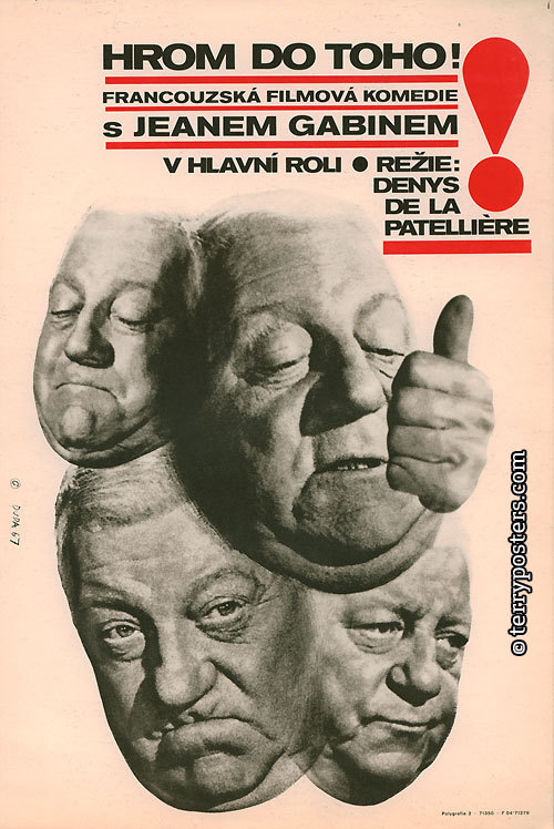 God's Thunder movie poster (Czechoslovakia)