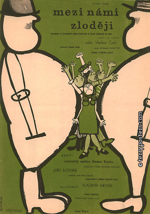 Mezi Námi Zloději (Between Us Thieves) movie poster (Czechoslovakia) 1