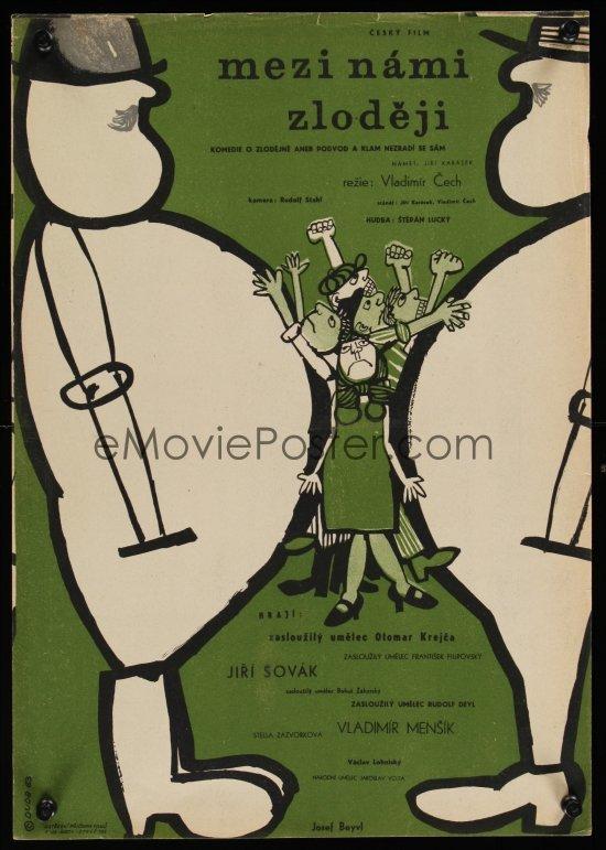 Mezi Námi Zloději (Between Us Thieves) movie poster (Czechoslovakia) 2